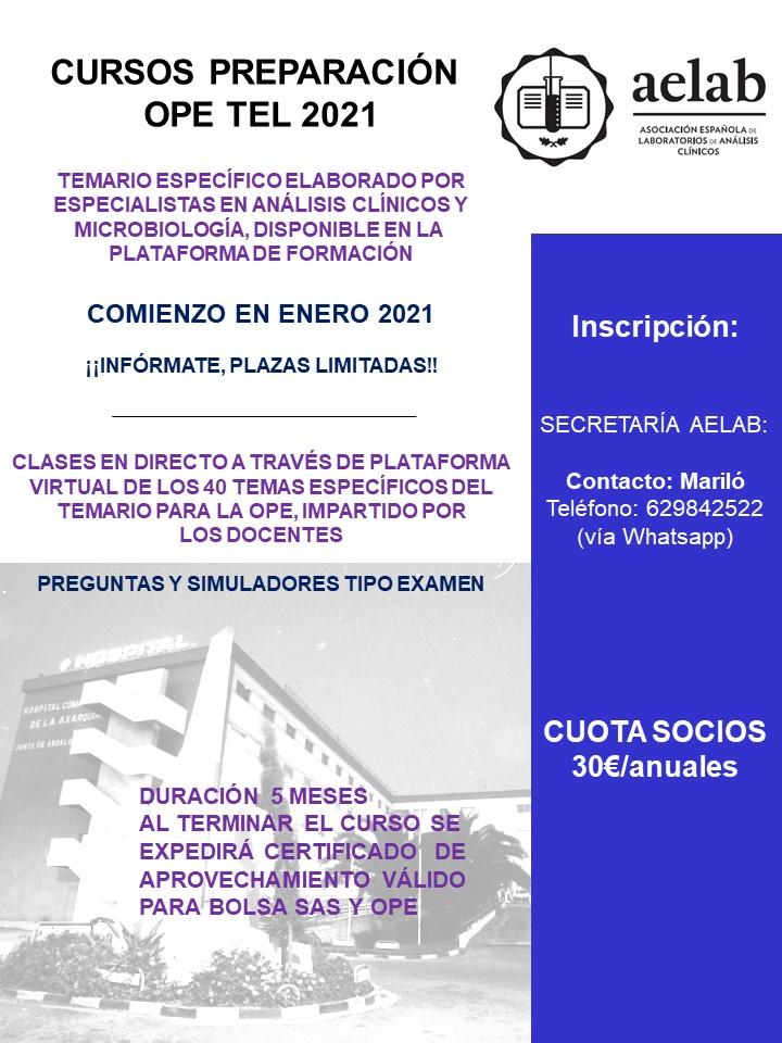 Curso preparación OPE Técnicos de Laboratorio 2021